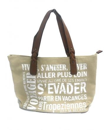 Les Tropeziennes Sac Shopping HER02-TZ-BEIGE