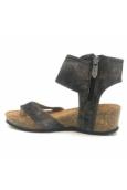 Les P'tites Bombes Sandale Compensée 5-Kelly Noir