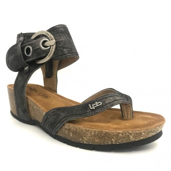 Sandales, nu-pieds Les P'tites Bombes Sandale Compensée 5-Kelly Noir