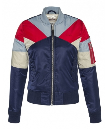 BLOUSON BOMBER EMPIECEMENT COLORE FLAG