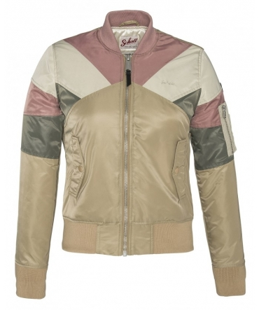 BLOUSON BOMBER EMPIECEMENT COLORE MAKE UP