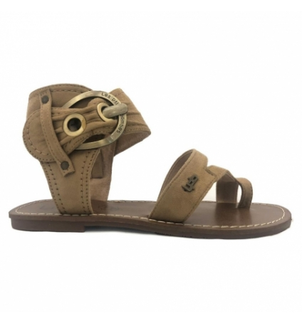 Sandales LPB Shoes Pensée Velours Beige