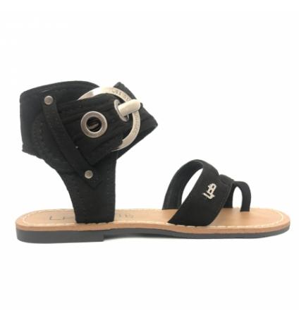 Les P'tites Bombes Sandale 7-PENSEE Velours Noir