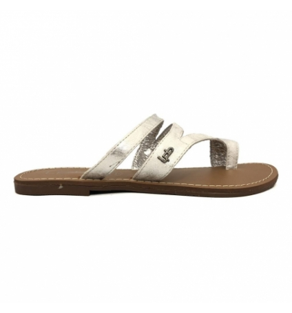 Sandales LPB Shoes Texane Argent