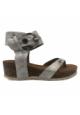 Les P'tites Bombes Sandale Compensée 5-Kelly Argent