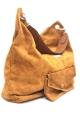 Les Tropeziennes  Sac porte epaule cuir WIE01 CAMEL