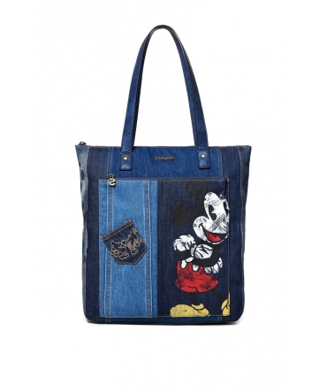 SAC DESIGUAL SHOPPER EXOTIC MICKEY BOGOTA BLEU