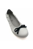 Ballerines 7-EDEN Blanc/Noir