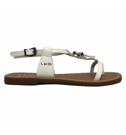 Sandales LPB Shoes Zhoe V. Blanc