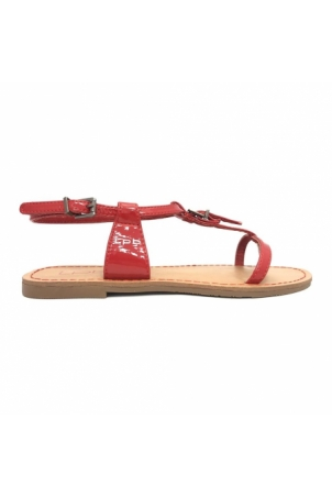 Les P'tites Bombes Sandale 7-ZHOE V. Rouge