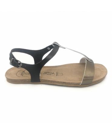 AMOA sandales SANARY acier/noir