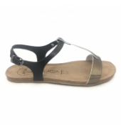 AMOA sandales SANARY Noir/Aciero