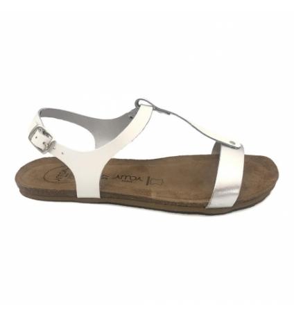 AMOA sandales SANARY Blanc/Argent