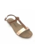 AMOA sandales SANARY Marron/Rose