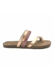 AMOA sandales LORGUES Rose/Glit