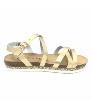 AMOA sandales MIMOSAS Or