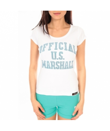 T-shirt US Marshall blanc F.T111