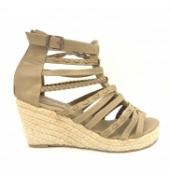Sandales compensées Nice Shoes taupe
