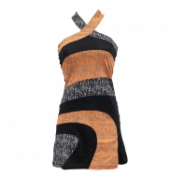 Robe Bamboo's Fashion Orange/Noir