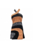 Robe Bamboo's Fashion Orange/Noir