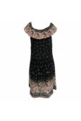 Roba care of you noir motifs fleuris
