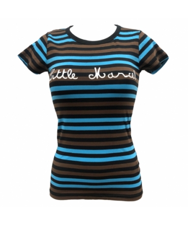 T shirt Little Marcel Line Rdc Mc Noir Marron Bleu