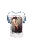 By La Vitrine Tee-shirt B005 Bleu/Blanc