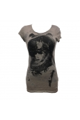 Rich&Royal Tee shirt Visages Gris 13Q466