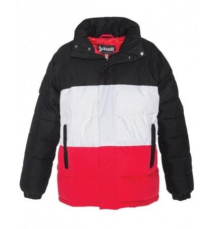 Doudoune  Schott  NEBRASKA W Black White Red