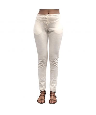 Petit Bateau Pantalon pantalon Sportswear  Blanc 4 Boutons  30988