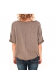 Sweet Company Pull Clous Dorés Taupe