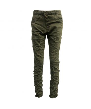 Jeans kaki en coton