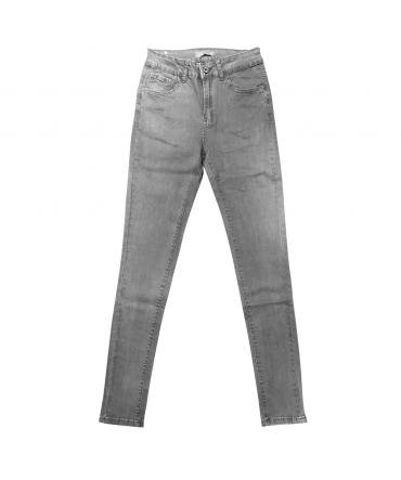 jeans gris en coton