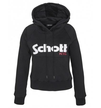 Schott Sweatshirt à capuche femme SW GINGER 2 W Noir