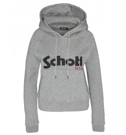 Schott Sweatshirt à capuche femme SW GINGER 2 W Heather Grey