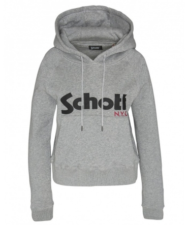 Schott Sweatshirt à capuche femme SW GINGER 2 W Heather Grey