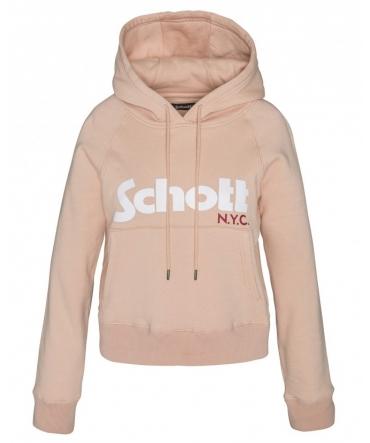 Schott Sweatshirt à capuche femme SW GINGER 2 W Blush