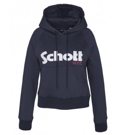 Schott Sweatshirt à capuche femme SW GINGER 2 W Marine