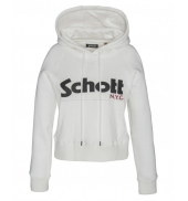 Schott Sweatshirt à capuche femme SW GINGER 2 W Off White