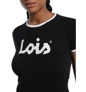 LOIS T Shirt Noir 420472094