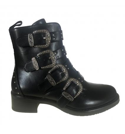 Les petites bombes chaussures Quadri noir boucle noir