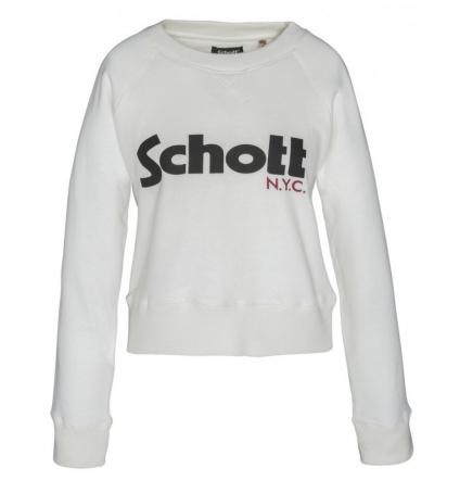 Schott Sweatshirt SW GINGER 1 W Blanc