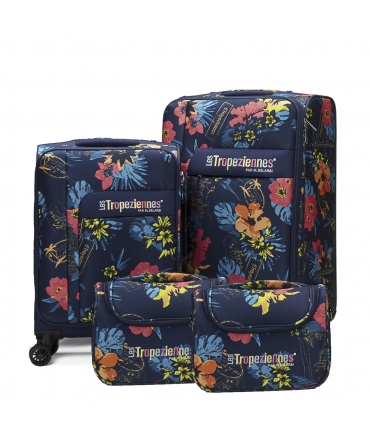 Les Tropéziennes set 2 valises VAL06 bleu