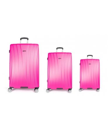 Les Tropéziennes set 3 valises VTZ20 fushia