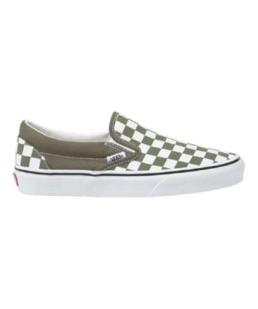 Vans Classic Slip-on vert et blanc dammier