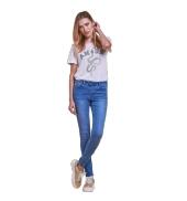 Les Petites Bombes jeans taille haute Lou bleu