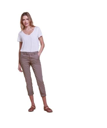 Les Petites Bombes pantalon chino Naomie taupe