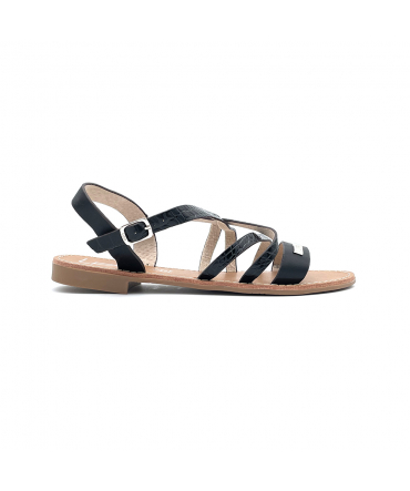 Les Petites Bombes sandales Bianka noir croco