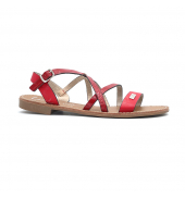 Les Petites Bombes sandales Bianka rouge croco