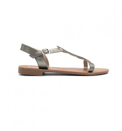 Les Petites Bombes Sandales Bassa bronze métal